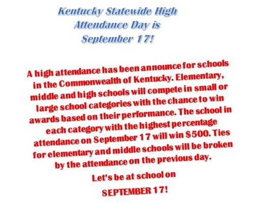 Be at school Sept. 17!